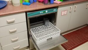 commercial dishwasher in child care centre